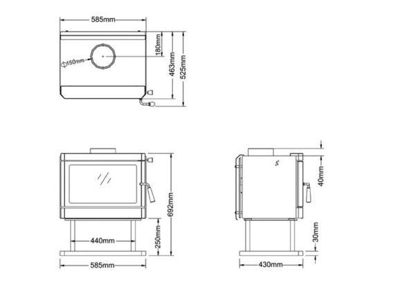 【売却済!】HONMA ホンマ製作所 高級鋼板製薪ストーブ バルカン AD-2800